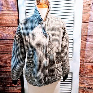 Jones NY Med Houndstooth Quilted Jacket